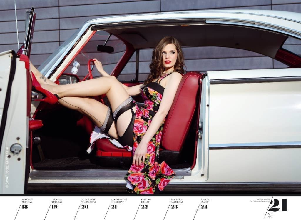 sexy autokalender girls legendary us cars 2015 fotostrecke americar das online magazine. Black Bedroom Furniture Sets. Home Design Ideas