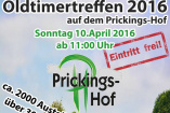Oldtimertreffen Prickings-Hof | Sonntag, 10. April 2016