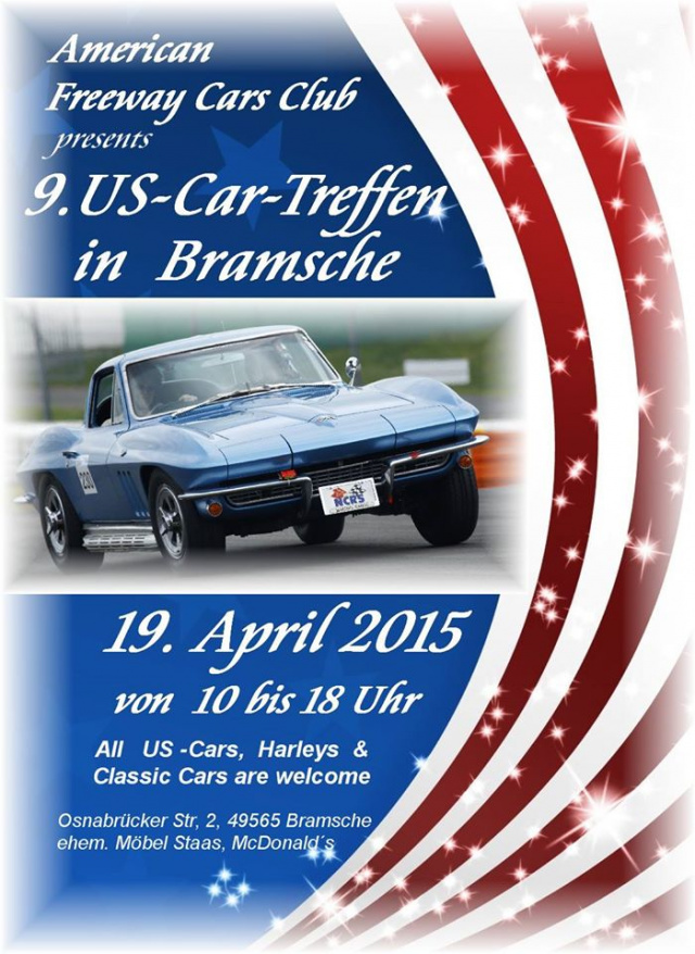 9 us car treffen sonntag 19 april 2015 bramsche. Black Bedroom Furniture Sets. Home Design Ideas