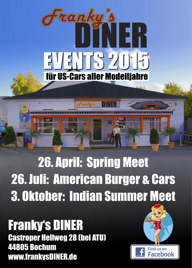 american burger cars am franky 39 s diner sonntag 26 juli 2015 franky 39 s diner bochum. Black Bedroom Furniture Sets. Home Design Ideas
