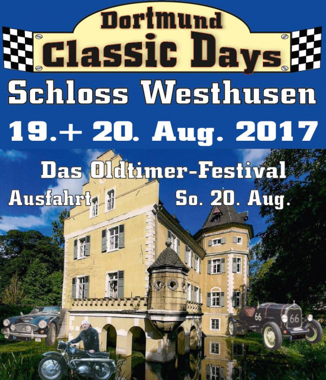 dortmund classic days schloss westhusen samstag 19 august 2017 schloss westhusen. Black Bedroom Furniture Sets. Home Design Ideas