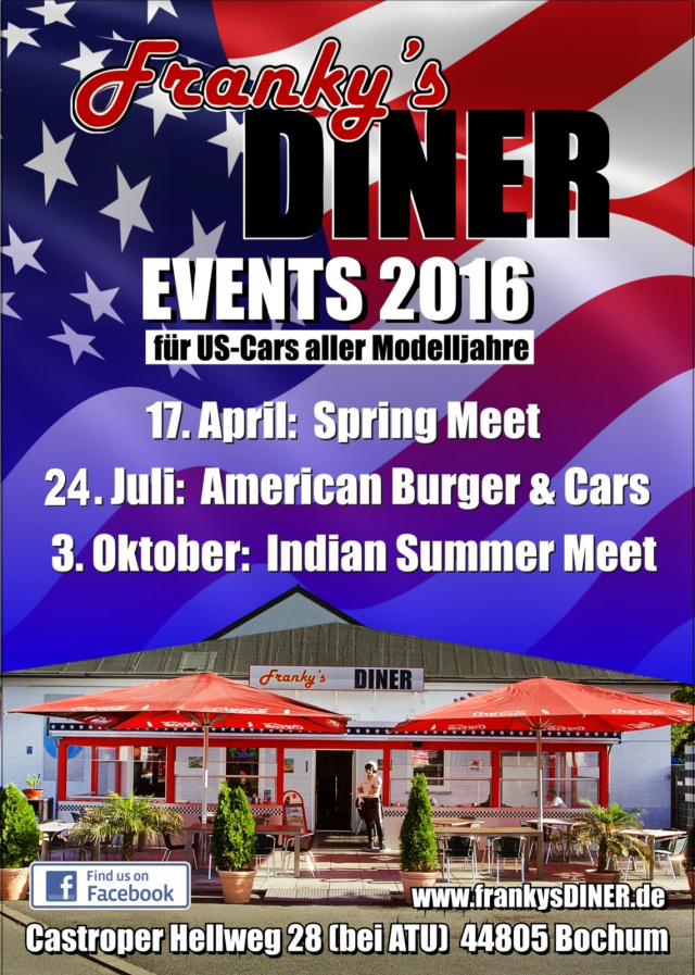 American Burger & Cars am Franky's Diner