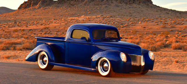 1940er Ford Pickup: Like a deep blue Sea