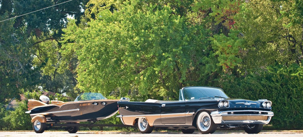cooles duo 1957 desoto adventurer cabrio mit duofoil boot. Black Bedroom Furniture Sets. Home Design Ideas