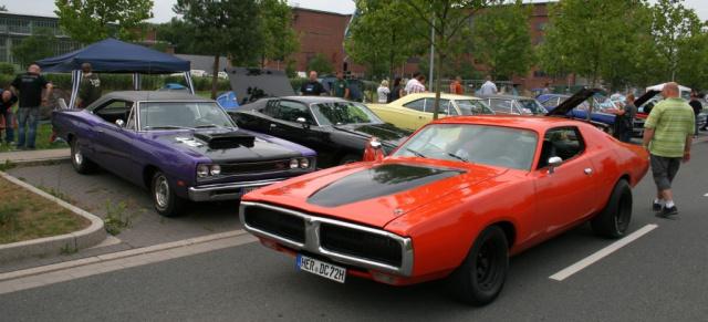 mopar nationals, 31.7., herten: rund 300 muscle cars & oldtimer auf