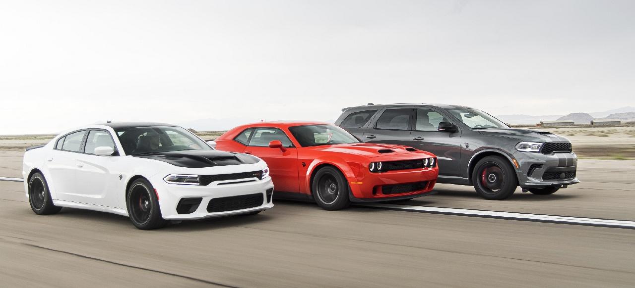 dodge hellcat lineup Trio Infernale: Dodge stellt Durango Hellcat, Charger Redeye und