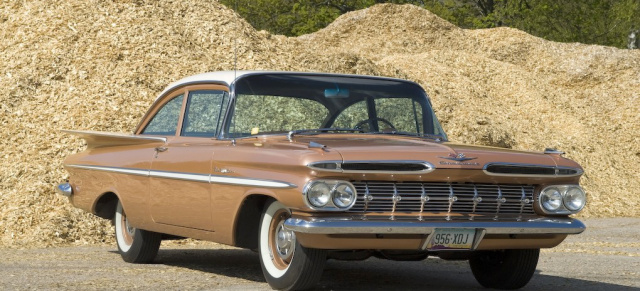 Heckflossen-Monster? 1959er Chevrolet Bel Air: Back to the Fifties: Unrestaurierter Chevy