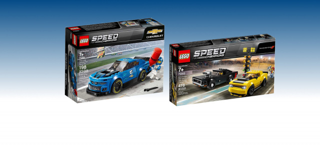 Lego Speed Champions: American Muscle Cars in Form von Bausteinen