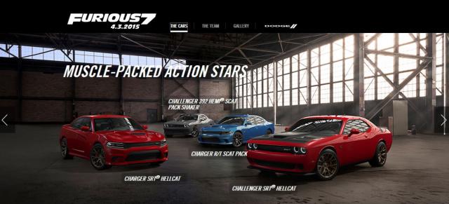 Viele Amerikanische Autos Im Film Fast And Furious 7 Ab