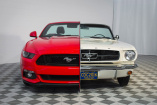 Side by Side Mustangs: 1965 Ford Mustang und 2015 Ford Mustang zum Vergleich