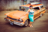 C&F Rockabella Queen und 1957er Mercury Colony Park: Sunday Cruiser