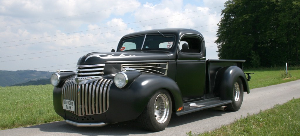 bad to the bone 46er chevrolet pick up vom braven arbeitstier zum hot rod laster auto des. Black Bedroom Furniture Sets. Home Design Ideas