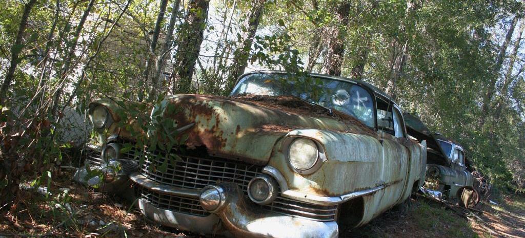 Alte Amerikanische Autos Broken Dreams Schrott Wird
