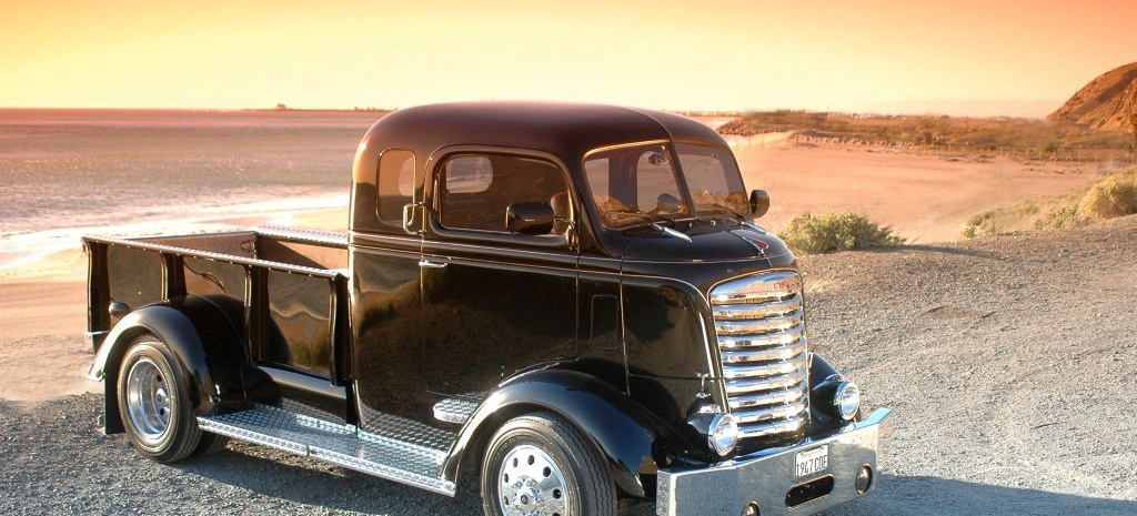 lasterhaft 1947er gmc cab over engine coe pick up pick. Black Bedroom Furniture Sets. Home Design Ideas