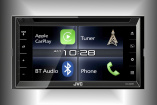 Neuer Doppel-DIN-Moniceiver mit 6,8-Zoll Hochglanz-Touch-Screen: Multimedia-Receiver JVC KW-V820BT mit Bluetooth und Apple CarPlay für perfekte iPhones-Integration