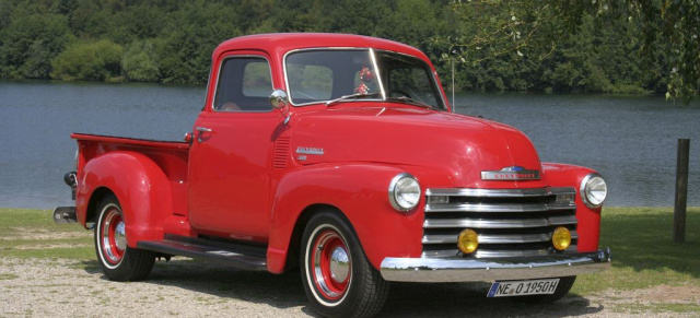 aller laster anfang 1950er chevrolet 3100 pick up. Black Bedroom Furniture Sets. Home Design Ideas