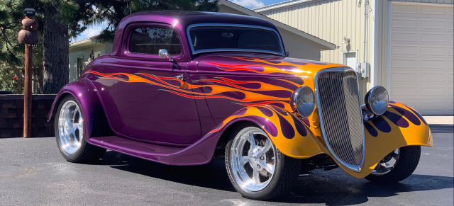 Ein Zeitsprung in der Rod-Kulture: 1934er Ford Coupe: Purple Time Warp
